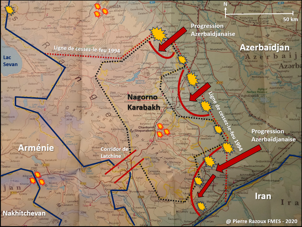 Nagorno Karabakh A New Turkish Front Against Russia By Pierre Razoux Fmes